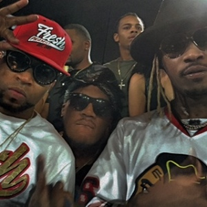 Martell Smith-Williams with Drumma Boy (left) and Future (right)